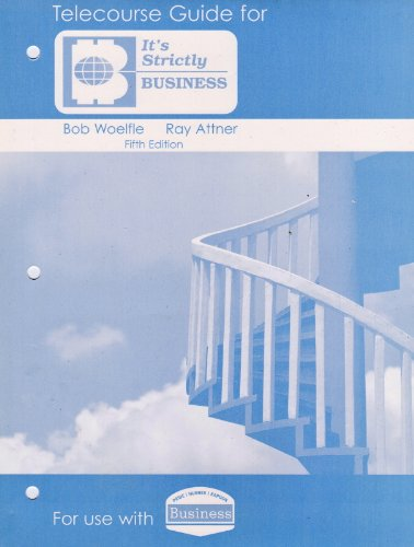 Pride, Business Telecourse Guide Ninth Edition 9th 2008 9780618770922 Front Cover