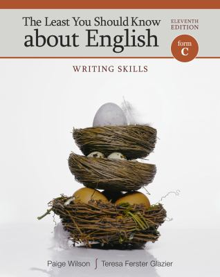 Least You Should Know about English, Form C Writing Skills 11th 2014 edition cover