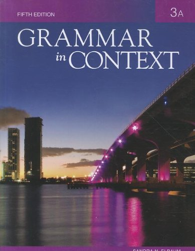 Grammar in Context 3: Split Text A (Lessons 1 - 5)  5th 2011 edition cover