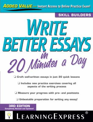 Write Better Essays in 20 Minutes a Day  3rd 2012 edition cover