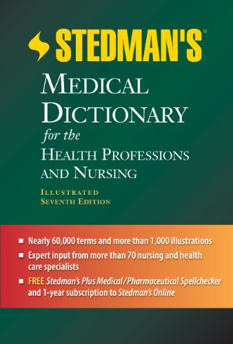 Stedman's Medical Dictionary for the Health Professions and Nursing  7th 2012 (Revised) 9781608316922 Front Cover