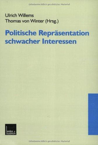 Politische Repräsentation Schwacher Interessen:   2000 edition cover