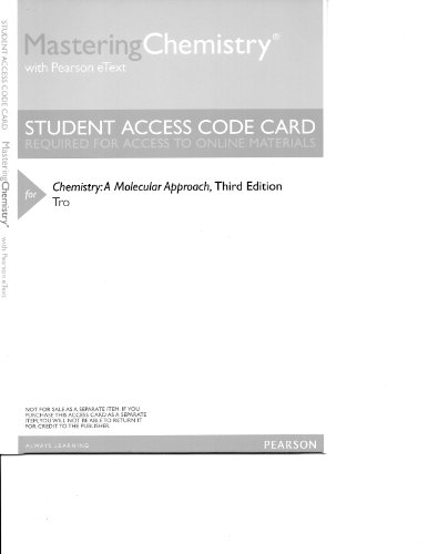 CHEMISTRY:MOLECULAR APPROACH-ACCESS     N/A 9780321842923 Front Cover