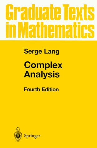 Complex Analysis  4th 1999 (Revised) edition cover