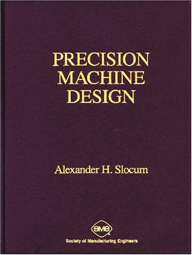 Precision Machine Design  Reprint edition cover