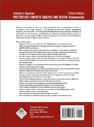 Prestressed Concrete Analysis and Design Third Edition 3rd edition cover