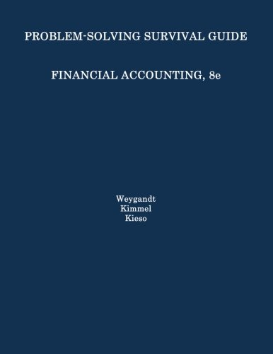 Financial Accounting Problem Solving Survival Guide 8th 2012 9781118102923 Front Cover