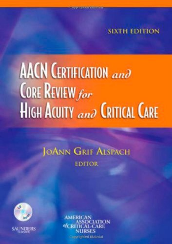 AACN Certification and Core Review for High Acuity and Critical Care  6th 2006 (Revised) edition cover