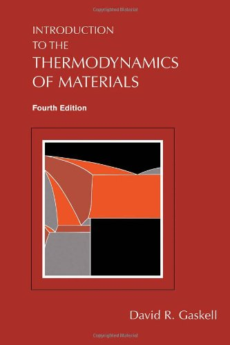 Introduction to the Thermodynamics of Materials  4th 2003 (Revised) edition cover