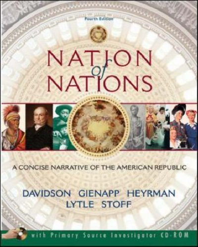 Nation of Nations A Concise Narrative of the American Republic 4th 2006 (Revised) edition cover