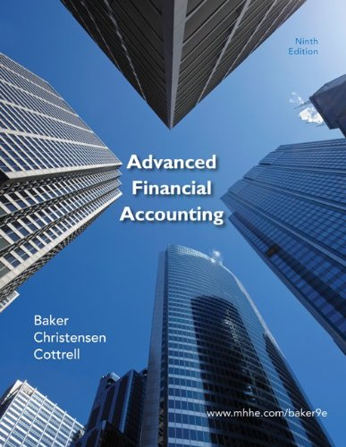 Advanced Financial Accounting  9th 2011 edition cover