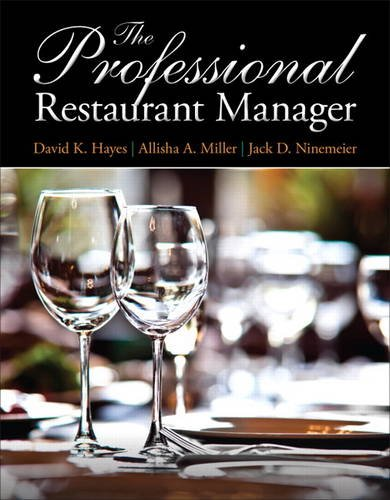 Professional Restaurant Manager   2014 9780132739924 Front Cover