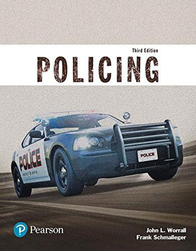 Policing (Justice Series)  3rd 2018 9780134441924 Front Cover