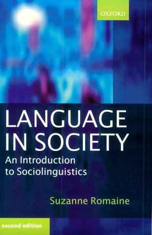 Language in Society An Introduction to Sociolinguistics 2nd 2000 (Revised) edition cover