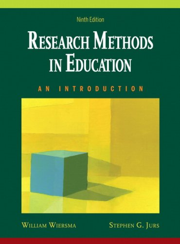 Research Methods in Education An Introduction 9th 2009 edition cover