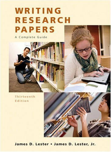 Writing Research Papers  13th 2010 edition cover