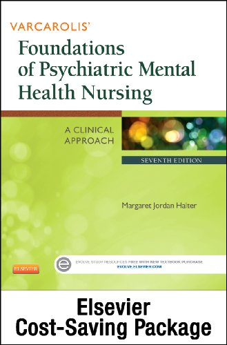 Varcarolis' Foundations of Psychiatric Mental Health Nursing - Text and Virtual Clinical Excursions Online Package  7th edition cover