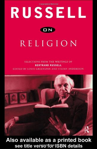 Russell on Religion Selections from the Writings of Bertrand Russell  1999 edition cover