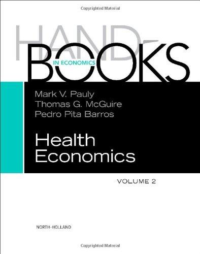 Handbook of Health Economics   2011 edition cover