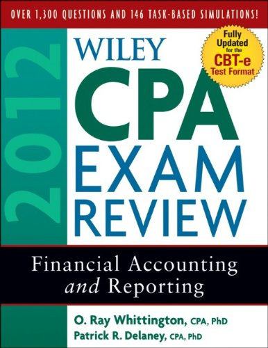 Wiley CPA Exam Review 2012 Financial Accounting and Reporting 9th 2011 9780470923924 Front Cover