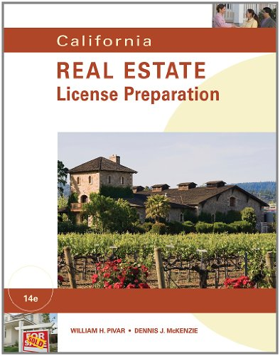 California Real Estate License Preparation  14th 2012 edition cover