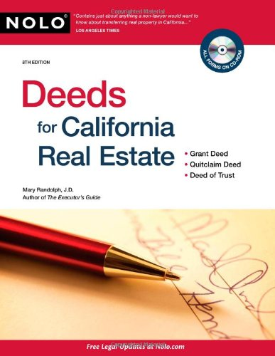 Deeds for California Real Estate  8th 2010 (Revised) edition cover
