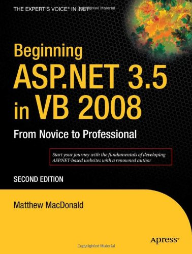 Beginning ASP. NET 3. 5 in VB 2008  2nd 2007 9781590598924 Front Cover