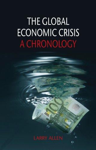 Global Economic Crisis A Chronology  2013 edition cover