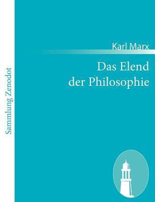 Elend der Philosophie   2011 9783843065924 Front Cover
