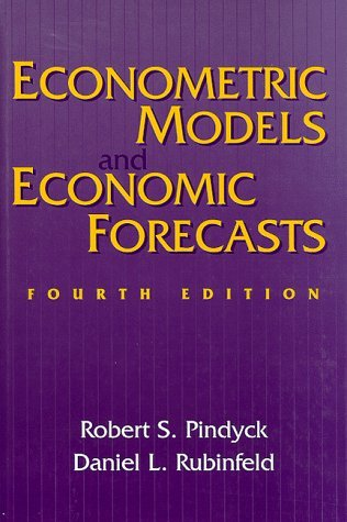 Econometric Models and Economic Forecasts  4th 1998 (Revised) edition cover