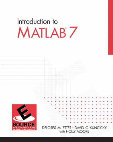 Introduction to Matlab 7   2005 9780131474925 Front Cover