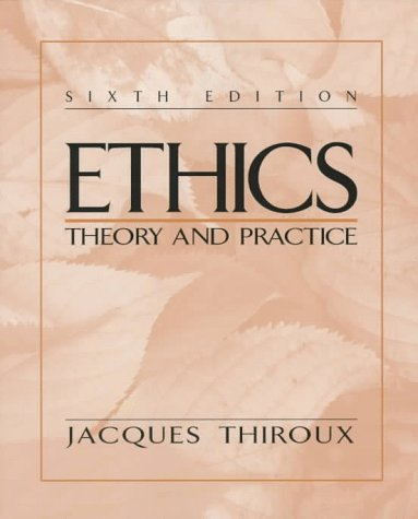 Ethics  6th 1998 9780137542925 Front Cover