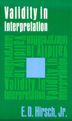 Validity in Interpretation   1967 edition cover