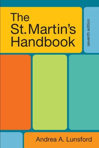 St. Martin's Handbook  7th 2011 edition cover