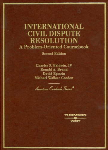 International Civil Dispute Resolution  2nd 2008 (Revised) edition cover