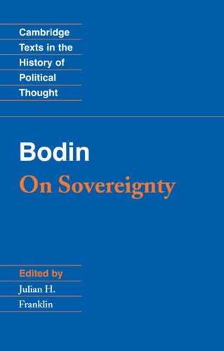 Bodin On Sovereignty  1992 edition cover