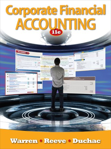 Corporate Financial Accounting  11th 2012 edition cover