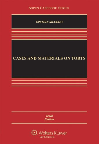 Cases and Materials on Torts  10th 2012 (Revised) edition cover