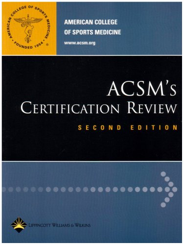 ACSM's Certification Review  2nd 2006 (Revised) 9780781745925 Front Cover
