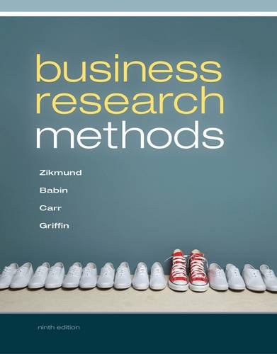 Business Research Methods  9th 2013 edition cover