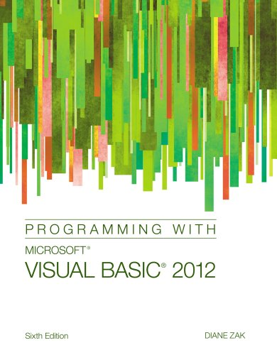 Programming with Microsoft� Visual Basic� 2012  6th 2014 edition cover