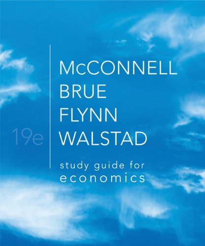 Study Guide for Economics  19th 2012 edition cover