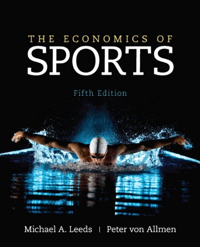 Economics of Sports  5th 2018 (Revised) edition cover