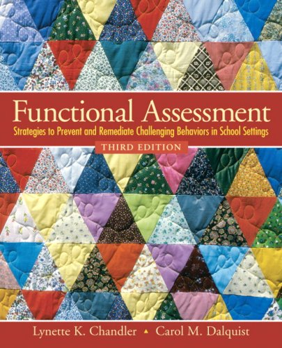 Functional Assessment Strategies to Prevent and Remediate Challenging Behavior in School Settings 3rd 2010 edition cover