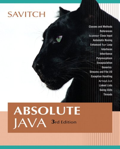 Absolute Java  3rd 2008 edition cover