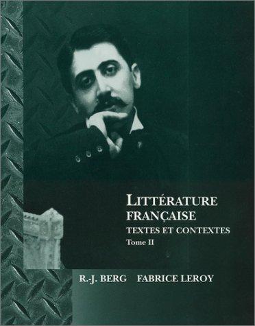 Litt�rature Fran�aise Textes et Contextes  1997 edition cover