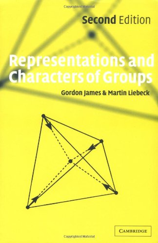 Representations and Characters of Groups  2nd 2001 (Revised) edition cover