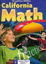 Mathmatics California, Level 4: Teacher Edition  2009 9780618826926 Front Cover
