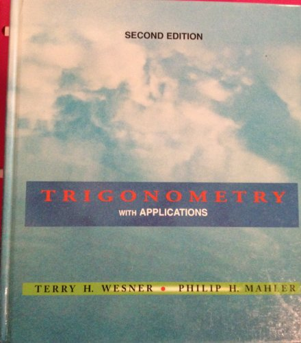 Trigonometry with Applications  2nd 1994 edition cover