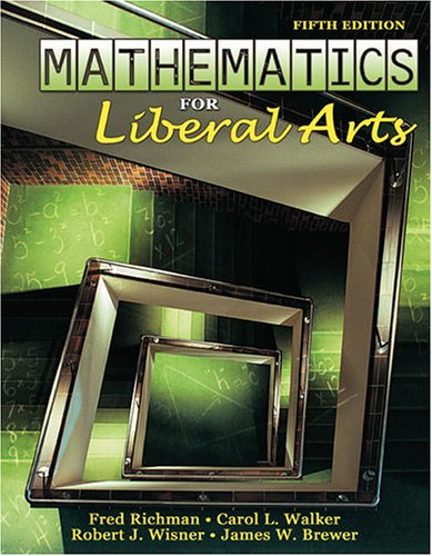 Mathematics for Liberal Arts  5th 2006 (Revised) 9780757525926 Front Cover
